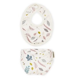 Cam Cam Cam Cam - Bib and Diaper Set  Pressed Leaves