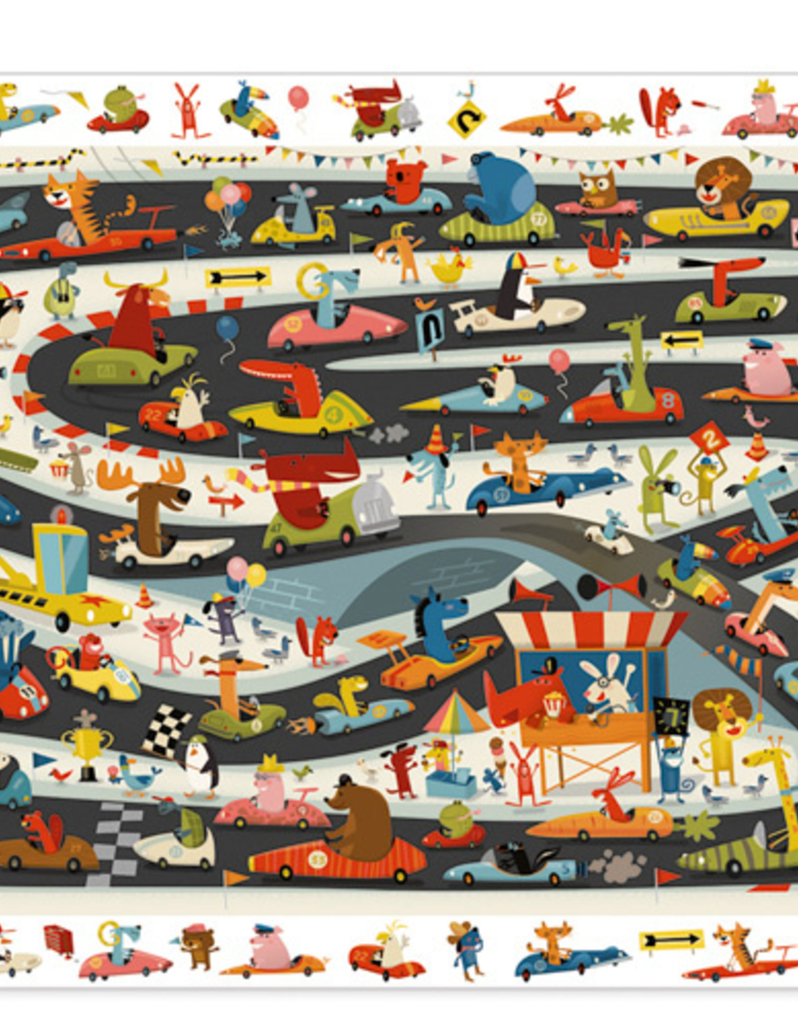 Djeco Observation Puzzle - Rally Automobile 54pce