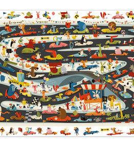 Djeco Djeco - Observation Puzzle Rallye Automobile 54pce