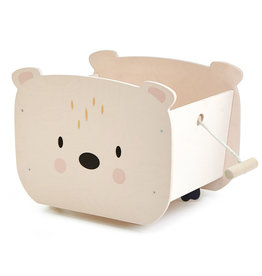 Tender Leaf Toys Tender Leaf -  Pull A Long Bear Cart