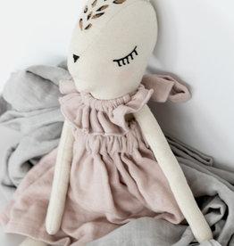 Burrow & Be Burrow & Be Doll  - Fleur Le Fawn Dusky Rose Dress