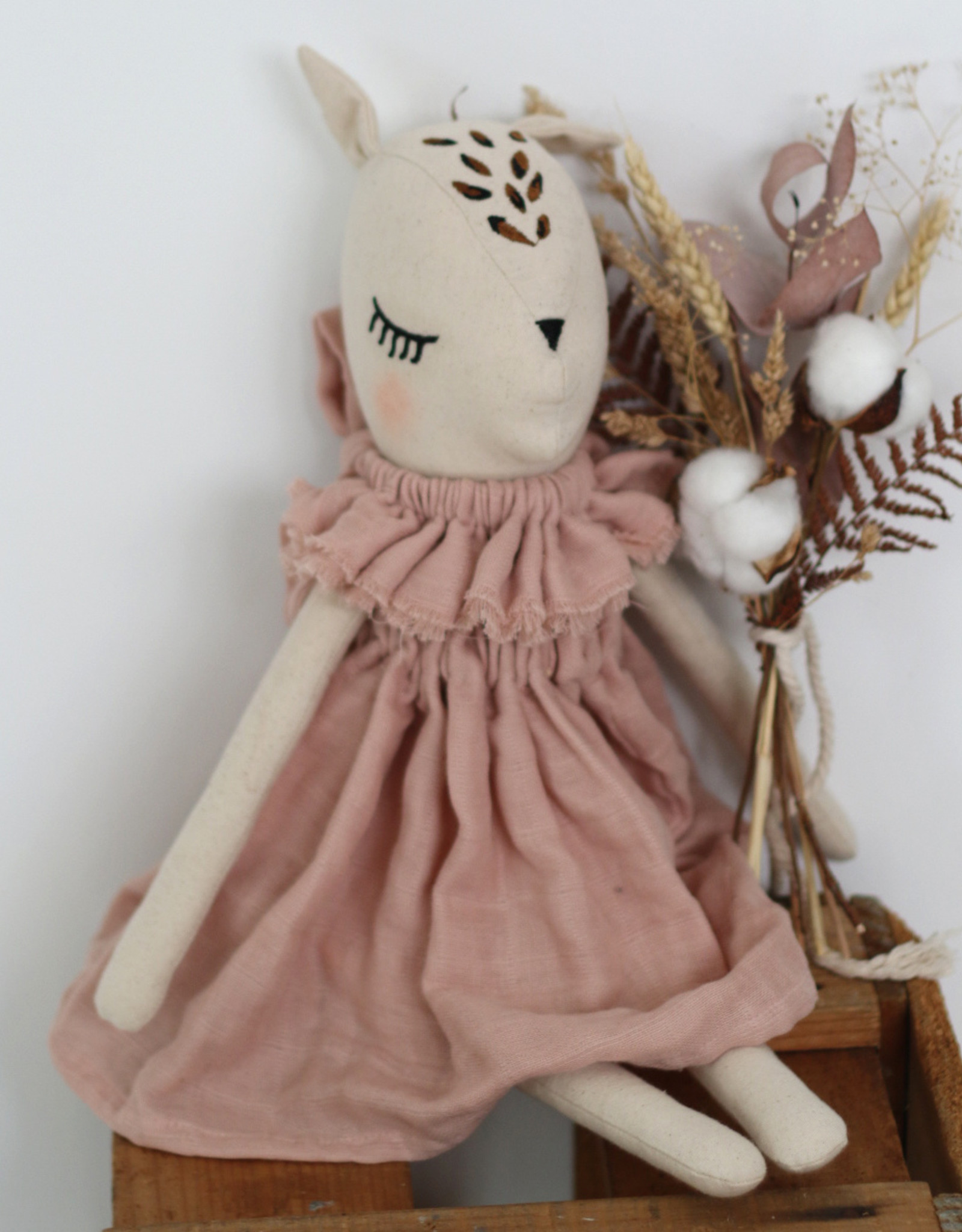 Burrow & Be Burrow & Be - Fleur Le Fawn Dusky Rose Dress