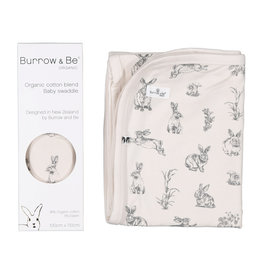 Burrow & Be Burrow & Be - Almond Swaddle With Grey Print