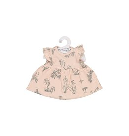 Burrow & Be Burrow & Be - Blush Meadows Dolls Dress 38cm