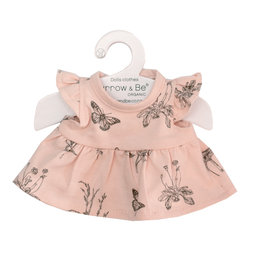 Burrow & Be Burrow & Be - Blush Meadows Dolls Dress 21cm