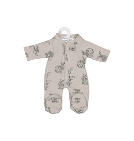 Burrow & Be Burrow & Be - Grey Burrowers Doll Jumpsuit 38cm