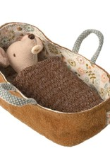 Maileg Maileg - Mouse Baby In Carrycot