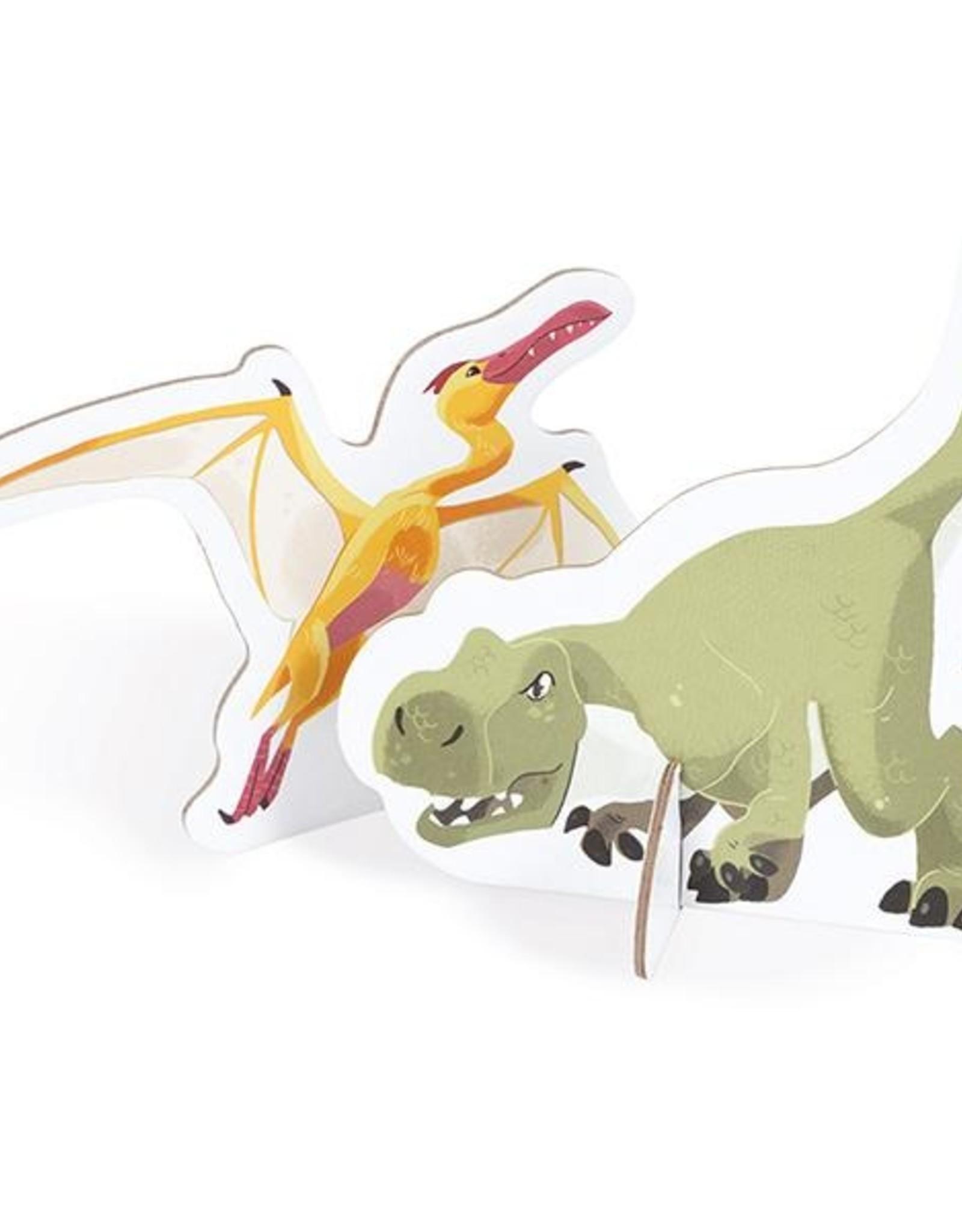 Janod Janod - Educational Dinosaur Puzzle 200pce