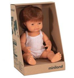 Miniland Miniland Baby Doll 38cm - New Red Head Boy