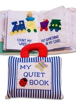 Dyles Fabric Toys My Quiet Book Blue Striped