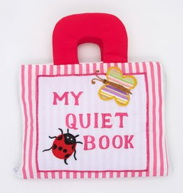 Dyles Fabric Toys My Quiet Book Pink Stripe