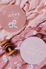 Snuggle Hunny Snuggle Hunny - Milestone Cards Daisy & Musk Pink