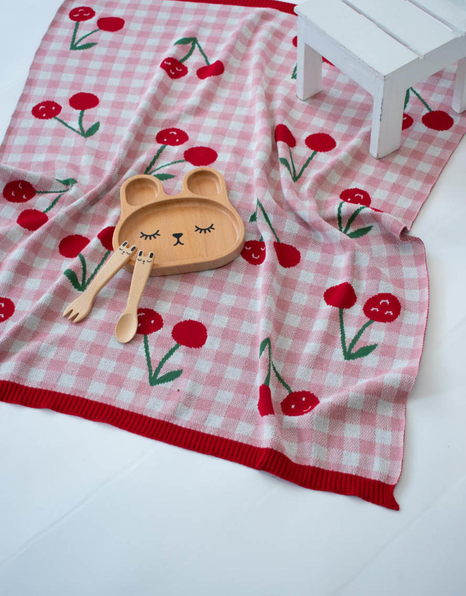 Indus Design Indus - Cheeky Cherries Blanket