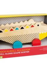 Petit Collage Petit Collage - Alligator Pull Along Shape Sorter