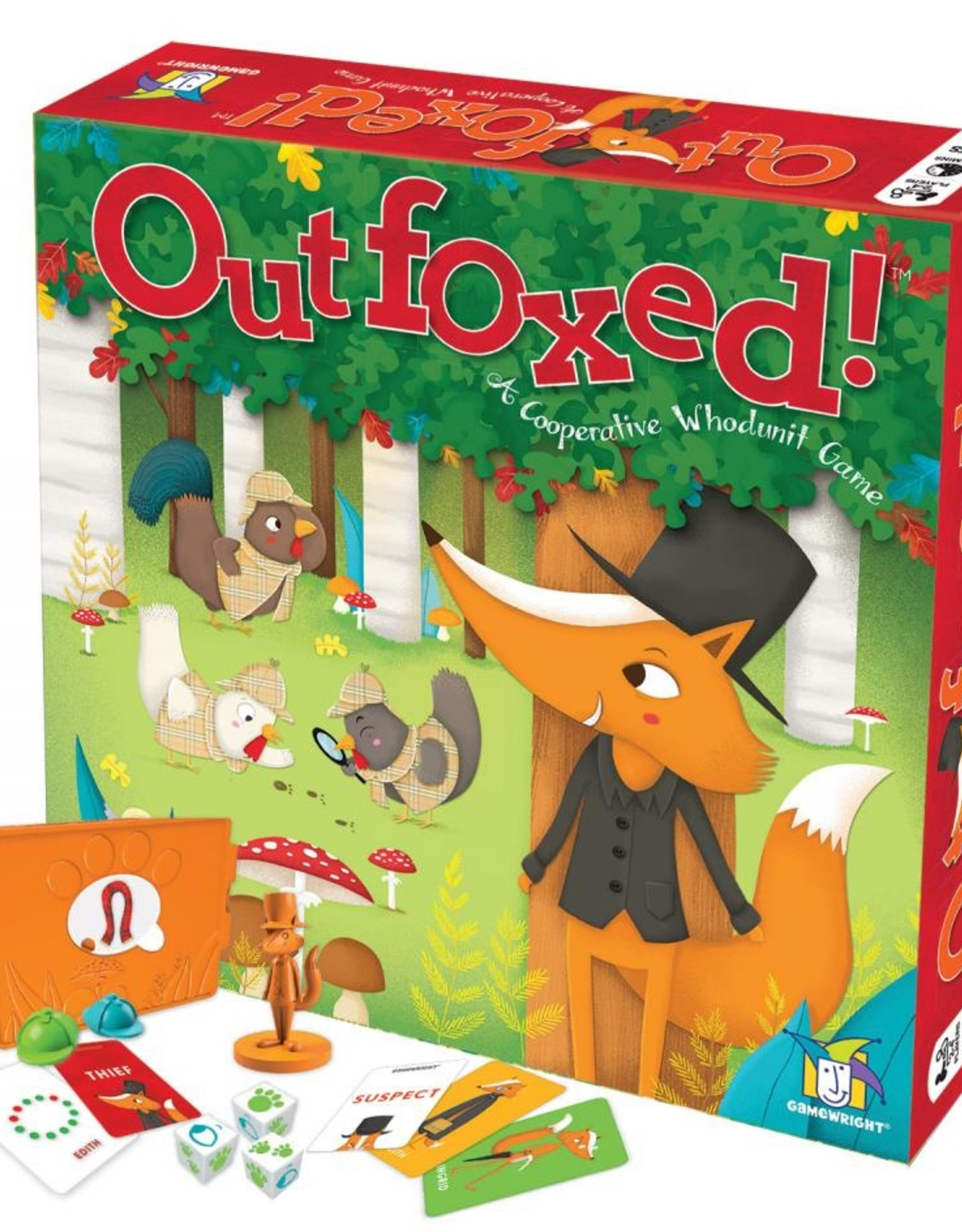 Gamewright Outfoxed! A Cooperative Whodunnit Game