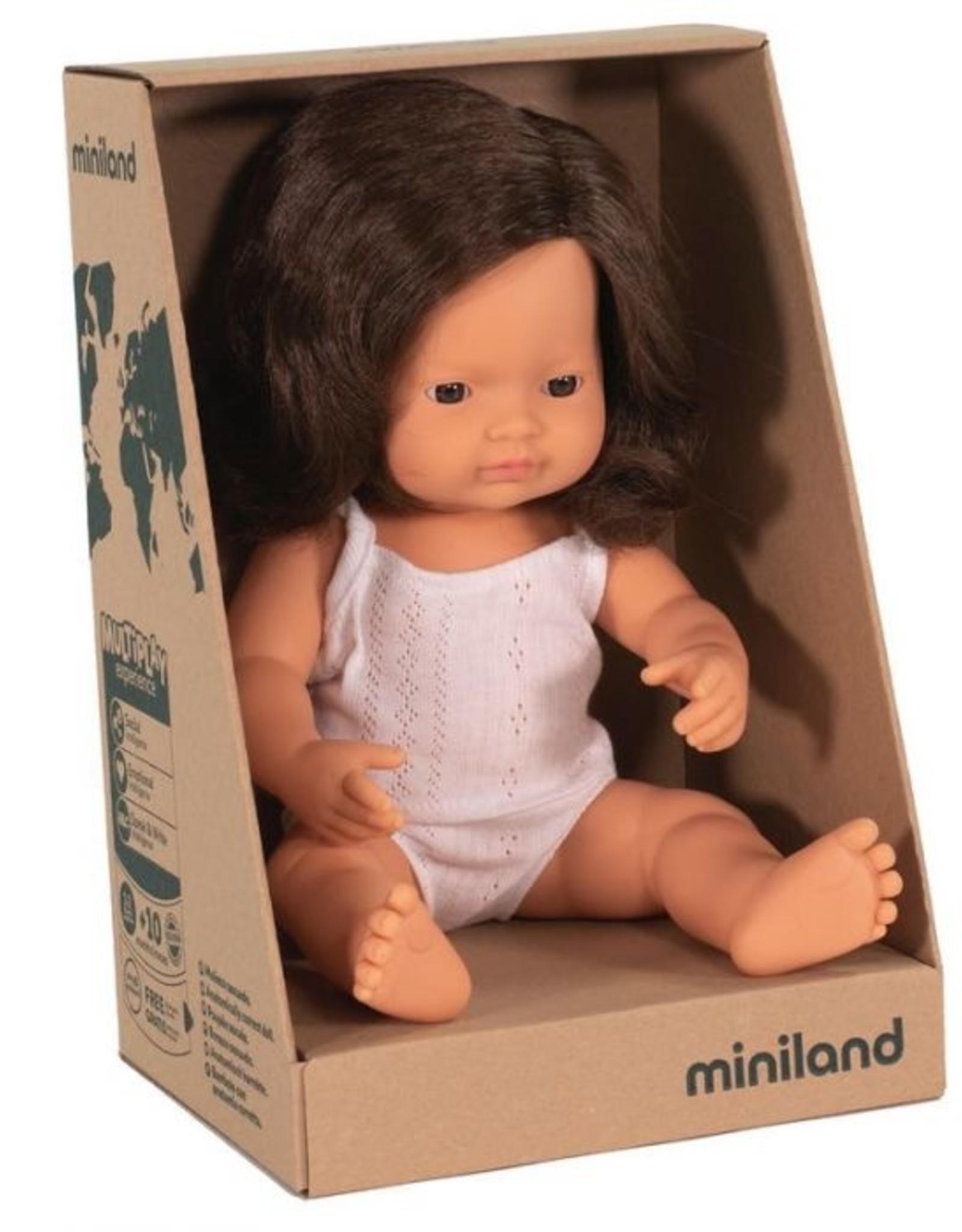 Miniland Miniland Doll 38cm -New Girl Brunette