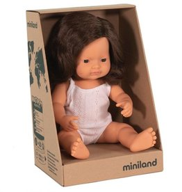 Miniland Miniland Doll 38cm -New Girl Brunette