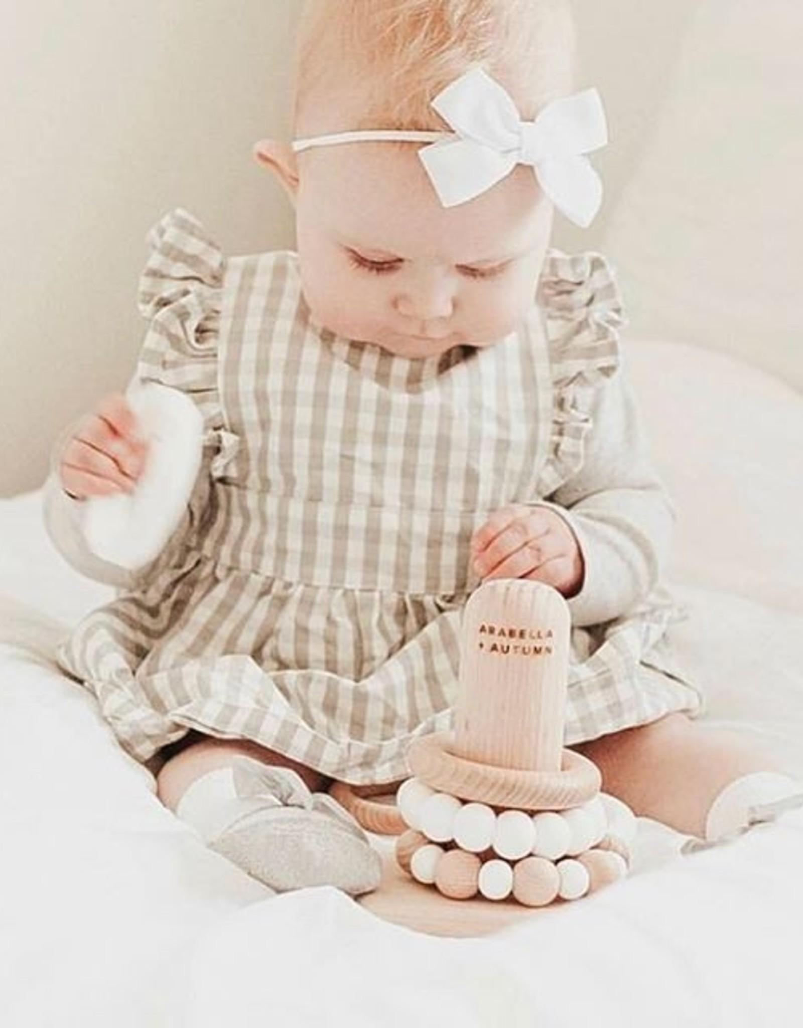 Arabella & Autumn Arabella & Autumn - Teething Stacker White