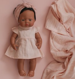 Burrow & Be Burrow & Be - Blush Flutter Dolls Dress 38cm