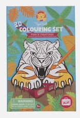 Tiger Tribe Tiger Tribe - 3D Colouring Set Fierce Creatures