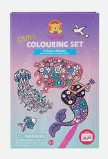 Glitter Colouring Set Ocean Dreams