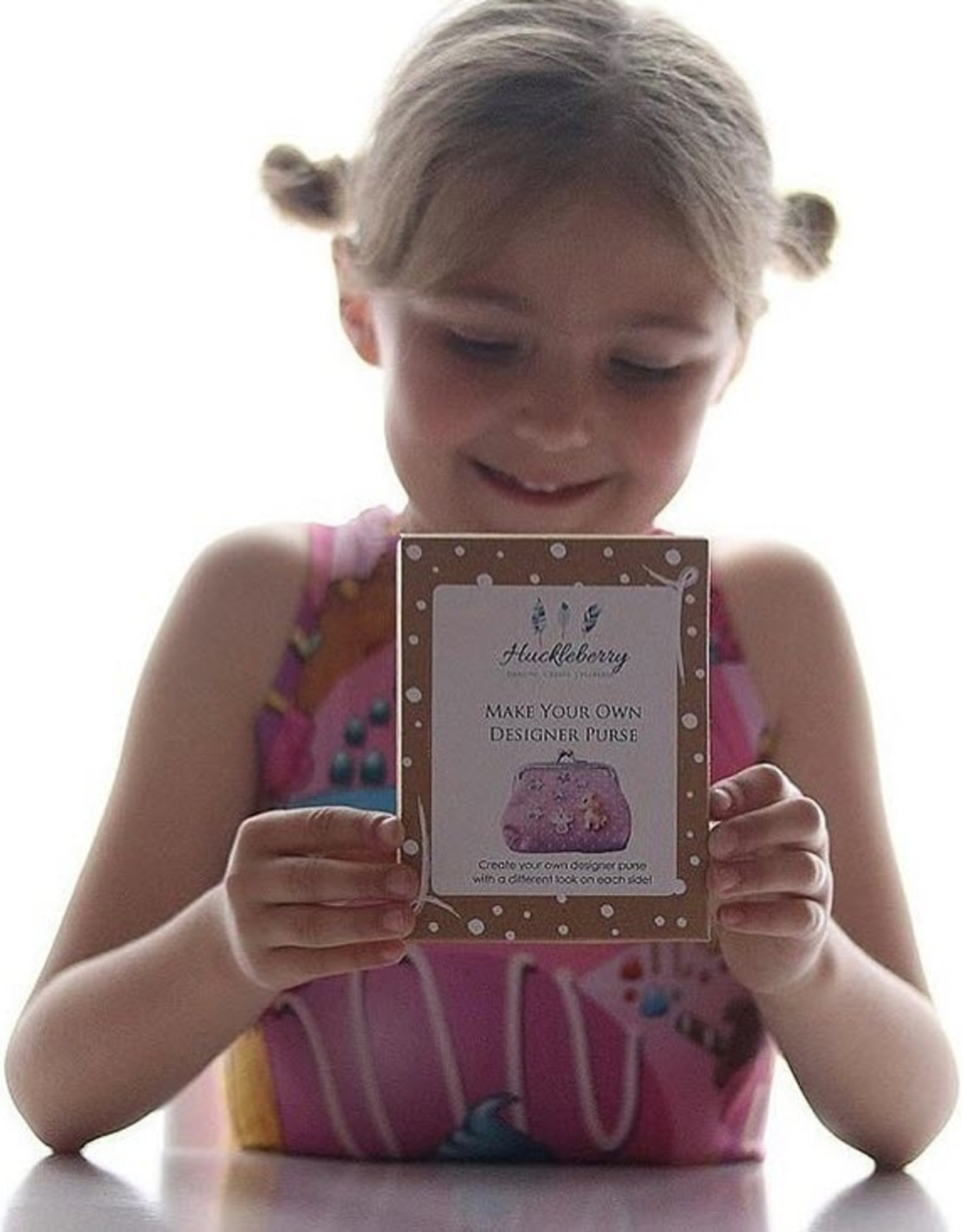 Huckleberry Huckleberry Make Your Own Designer Purse - Unicorns & Rainbow Pink