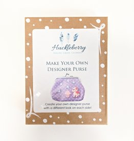 Huckleberry Huckleberry Make Your Own Designer Purse - Unicorns & Rainbow Purple