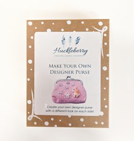 Huckleberry Huckleberry Make Your Own Designer Purse - Unicorns & Rainbow Pink