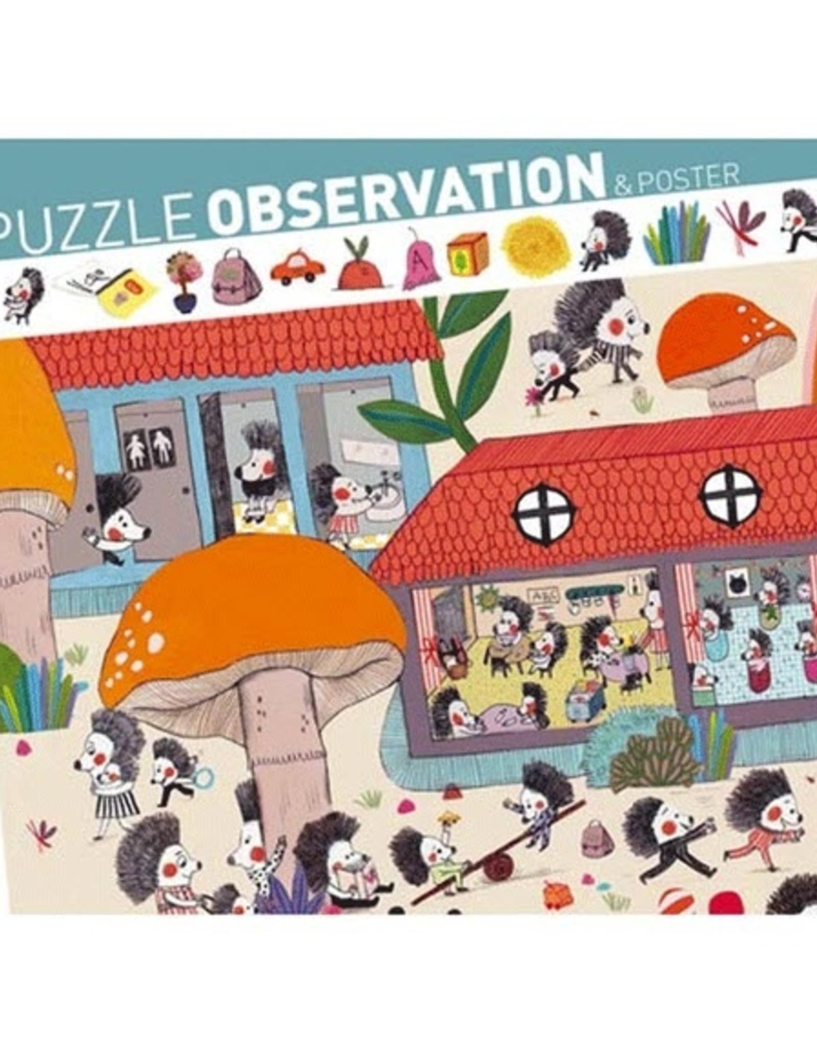 Djeco Djeco - Observation Puzzle Hedgehog School 35pce