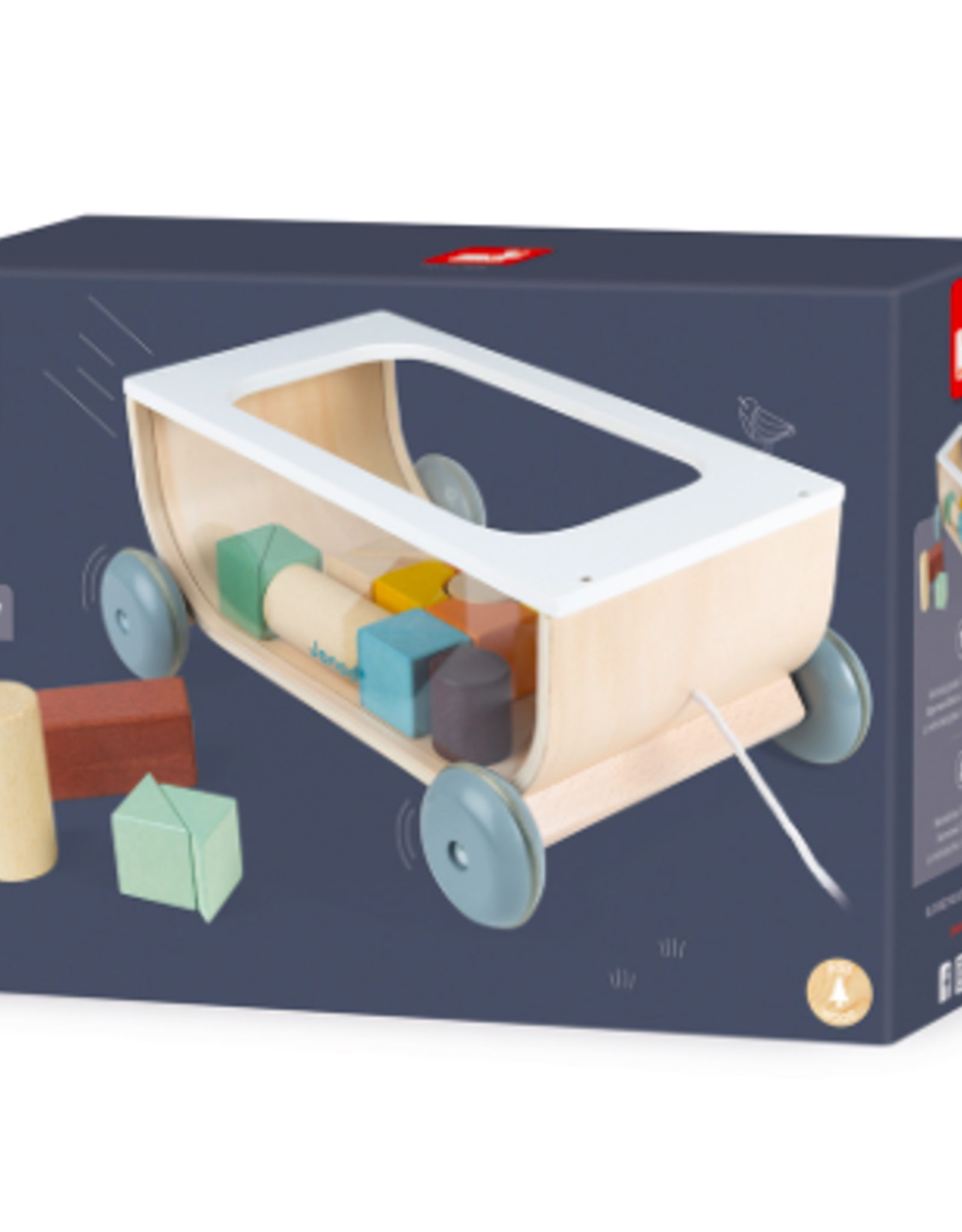 Janod Janod - Cocoon Cart With Blocks