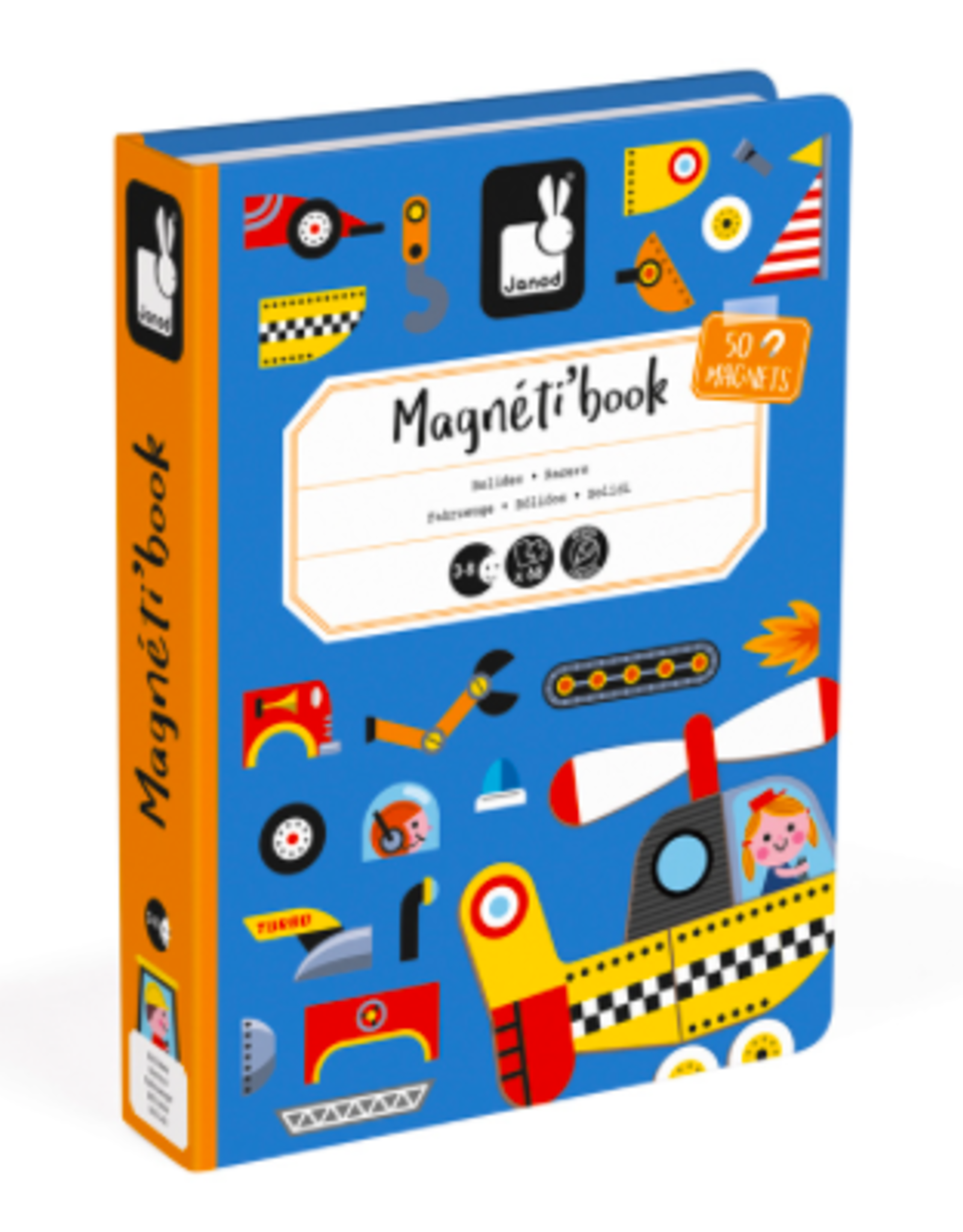 Janod Janod - Racers Magnetic Book