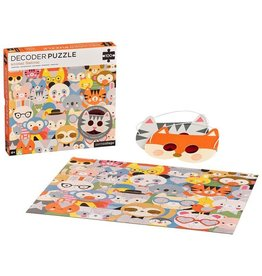 Petit Collage Petit Collage - Animal Festival Decoder Puzzle 100pce
