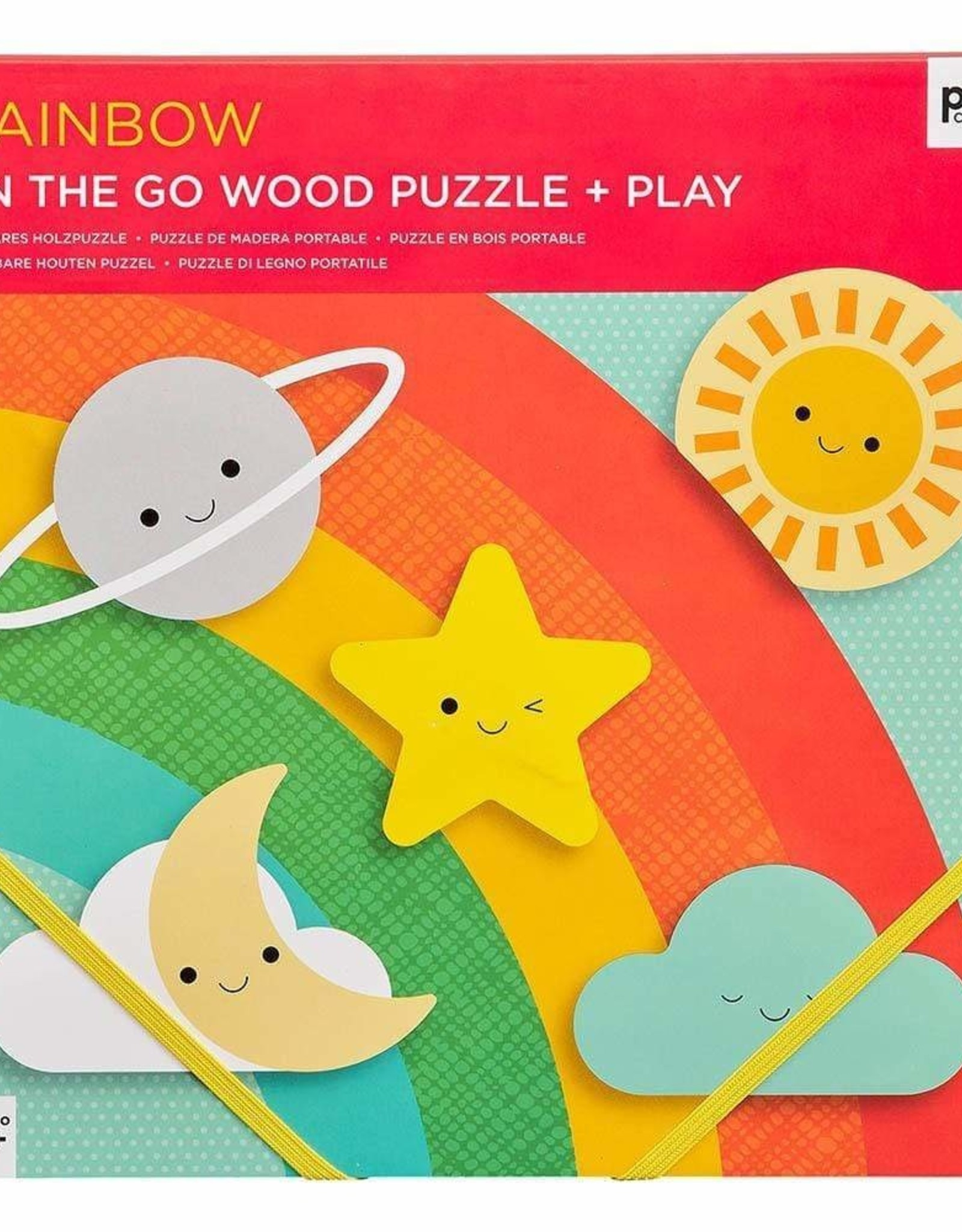 Petit Collage Petit Collage - Rainbow Chunky Wood Puzzle & Play