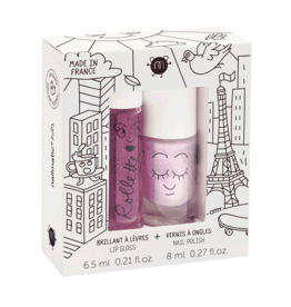 Nailmatic Nailmatic - Kids Lip Gloss & Nail Polish Gift Pack Lovely City
