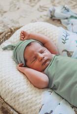 Snuggle Hunny Snuggle Hunny - Sage Baby Jersey Wrap & Beanie Set