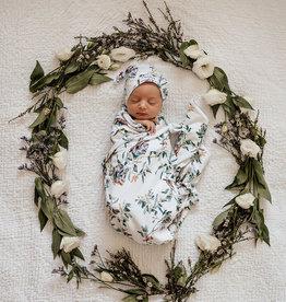 Snuggle Hunny Snuggle Hunny - Eucalypt Baby Jersey Wrap & Beanie Set