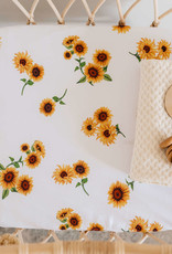 Snuggle Hunny Snuggle Hunny - Sunflower Fitted Bassinet Sheet Change Pad Cover