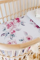 Snuggle Hunny Snuggle Hunny - Lilac Skies Fitted Bassinet Sheet Change Pad Cover