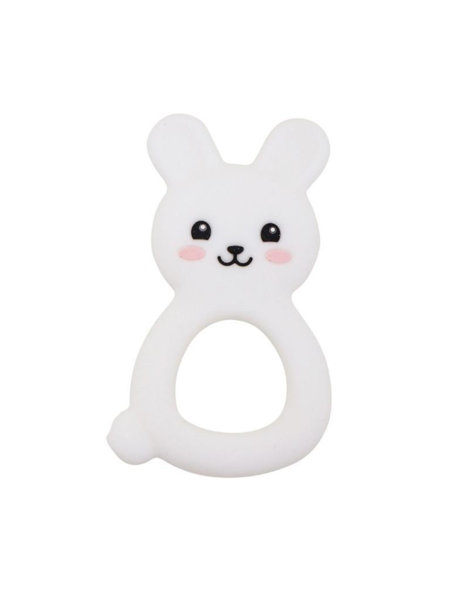 Jellystone Designs Jellystone - Jellies Bunny Teether White