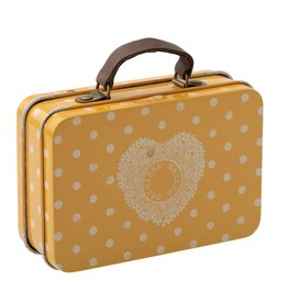 Maileg Maileg - Suitcase Metal Yellow Dot