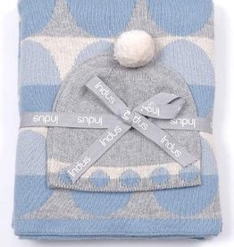 Indus Design Indus - Blanket & Hat Gift Set Blue