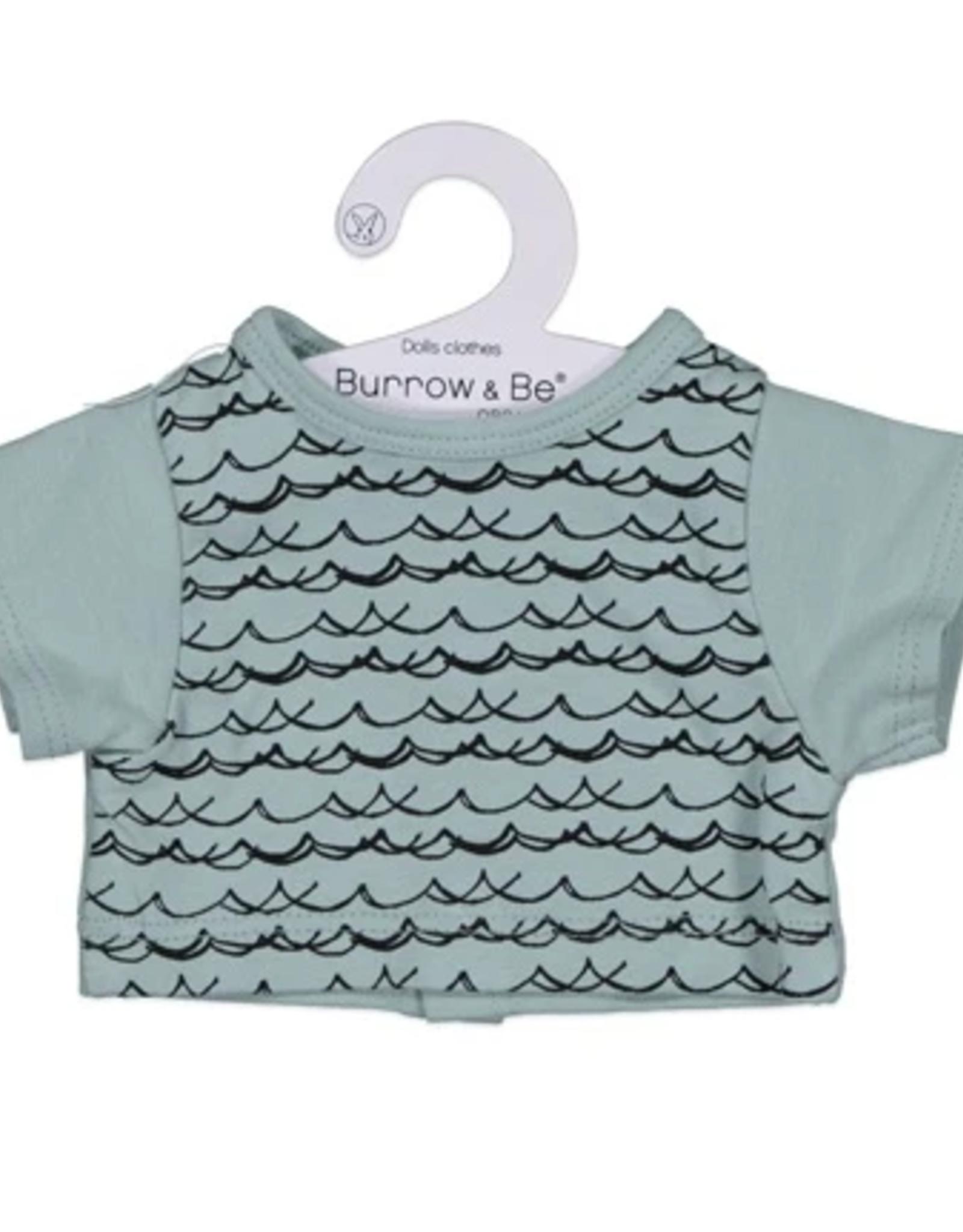 Burrow & Be Burrow & Be - Under The Sea Dolls T Shirt & Short Set 38cm