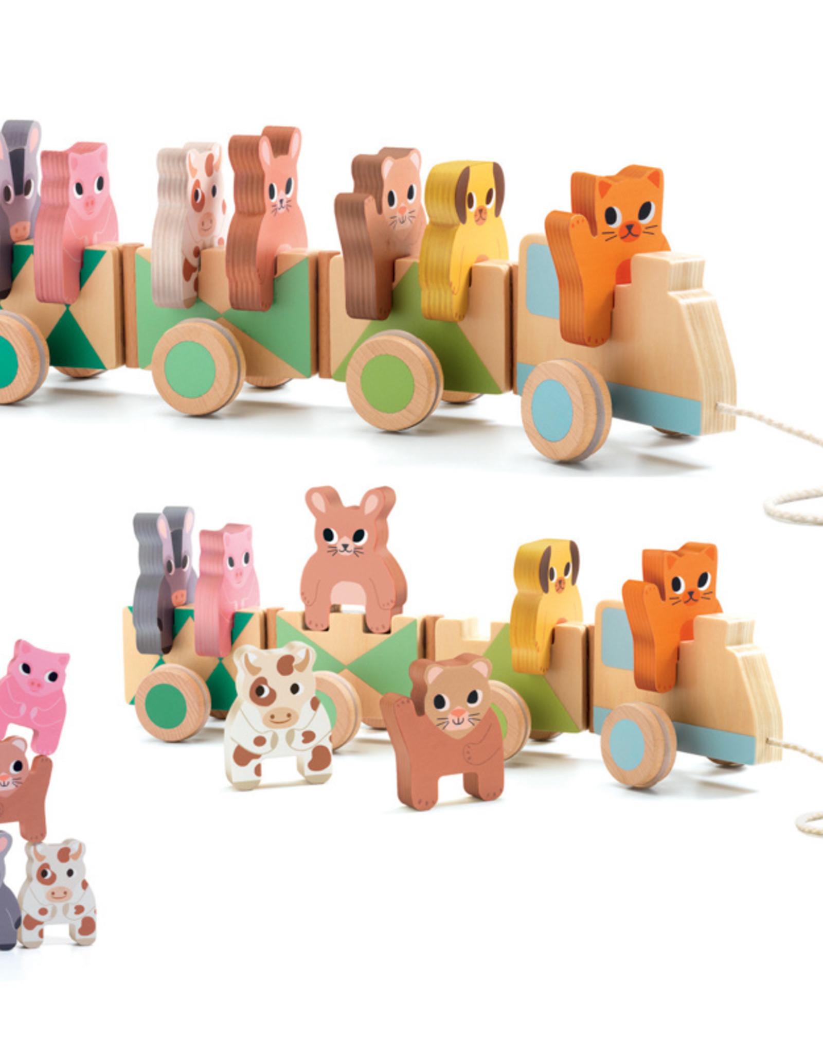 Djeco Djeco - Trainimo Farm Wooden Train