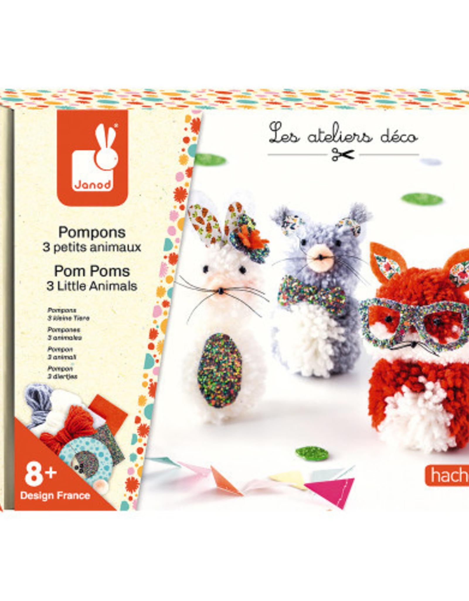 Janod Janod - Pom Pom 3 Animals