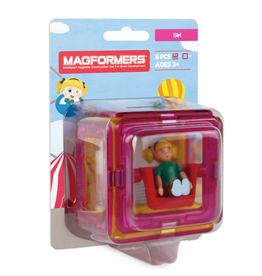 Magformers Magformers - Figure Plus Set Girl Square