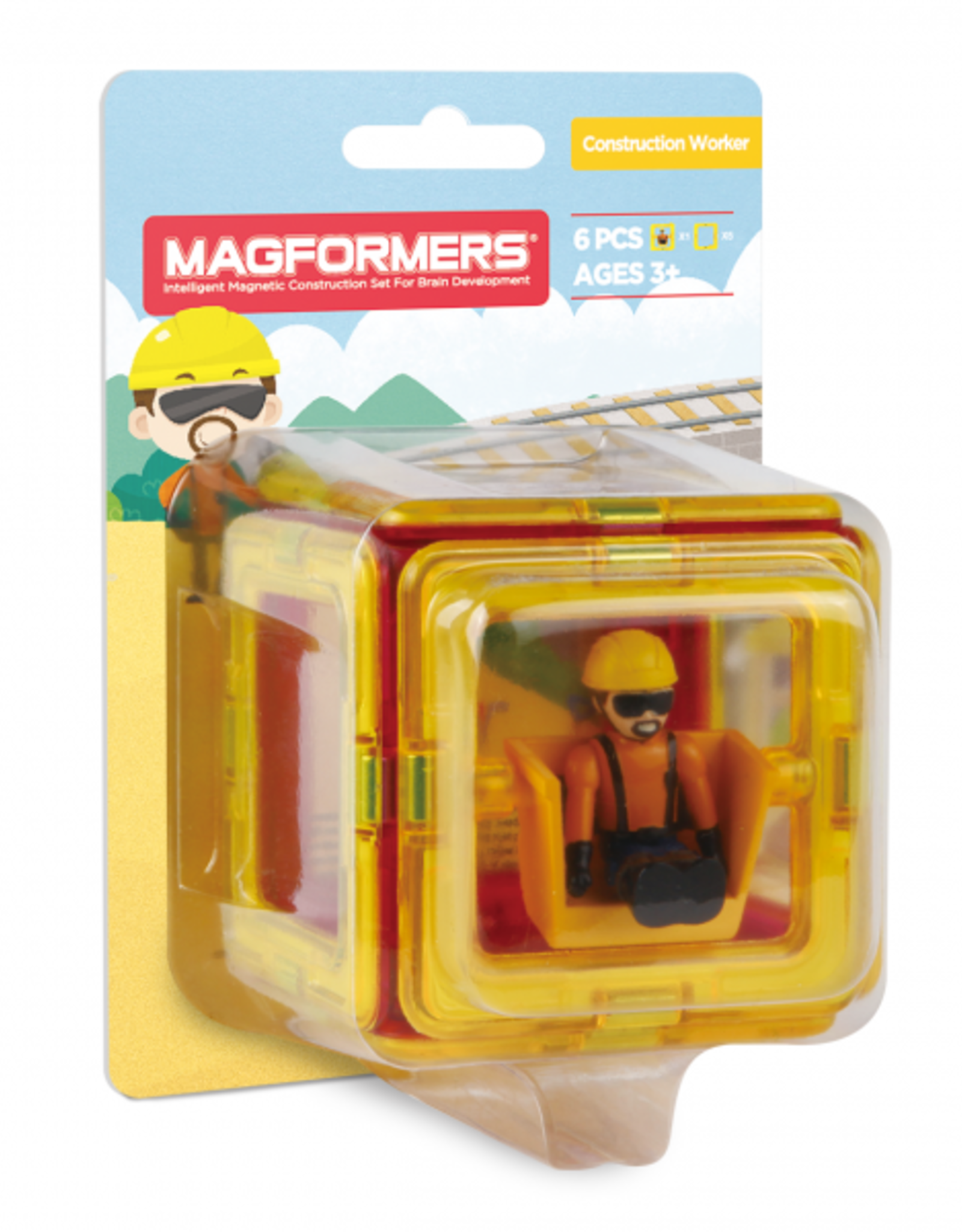Magformers Magformers - Figure Plus Set Construction Man Square