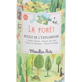 Moulin Roty Moulin Roty - Le Jardin Assorted Puzzles - Forest 96pce