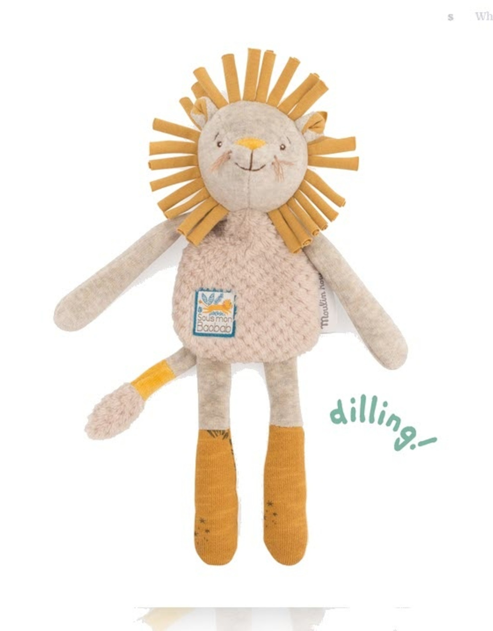 Moulin Roty Moulin Roty - Sous Mon Baobab Lion Rattle