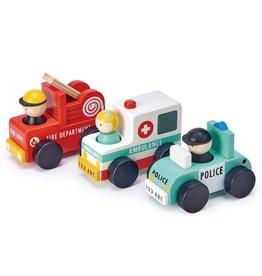 Tender Leaf Toys Tenderleaf - Wooden Emergency Vehicles