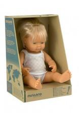 Miniland Miniland Baby Doll Boy Caucasian 38cm